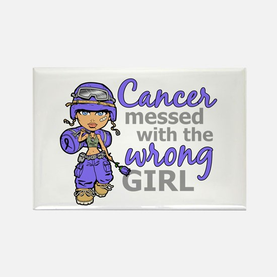 Combat Girl Stomach Cancer Rectangle Magnet