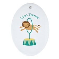 Lion Tamer Ornament (Oval)