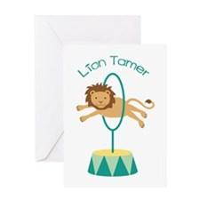 Lion Tamer Greeting Cards