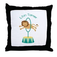 Lion Tamer Throw Pillow
