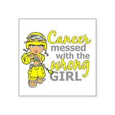 """Combat Girl Sarcoma Square Sticker 3"""" x 3"""""""