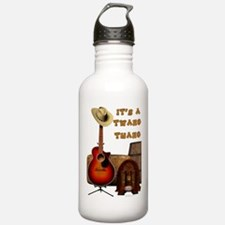 Country Acoustic Guitar Water Bottle