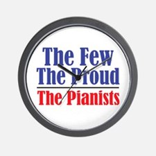 Few Proud Pianists Wall Clock