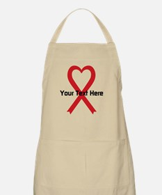 Personalized Red Ribbon Heart Apron
