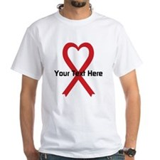 Personalized Red Ribbon Heart Shirt
