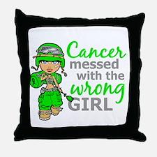 Combat Girl NH Lymphoma Throw Pillow