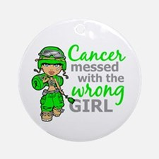 Combat Girl NH Lymphoma Ornament (Round)