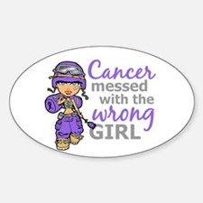Combat Girl Hodgkin's Disease Sticker (Oval)