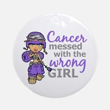 Combat Girl Hodgkin's Disease Ornament (Round)