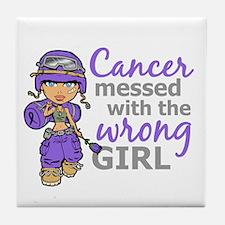 Combat Girl Hodgkin's Disease Tile Coaster