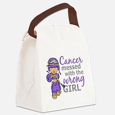 Combat Girl Hodgkin's Disease Canvas Lunch Bag