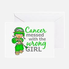 Combat Girl General Lymphoma Greeting Card