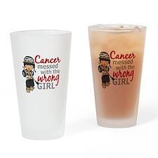 Combat Girl Melanoma Drinking Glass