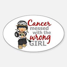 Combat Girl Melanoma Sticker (Oval)