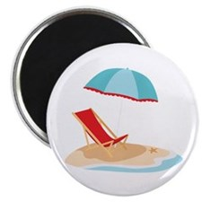 Sun Umbrella And Chair Magnets