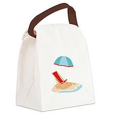Sun Umbrella And Chair Canvas Lunch Bag