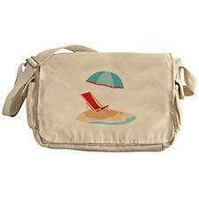 Sun Umbrella And Chair Messenger Bag