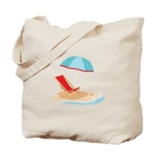Sun Umbrella And Chair Tote Bag