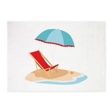 Sun Umbrella And Chair 5'x7'Area Rug