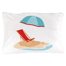 Sun Umbrella And Chair Pillow Case