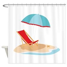 Sun Umbrella And Chair Shower Curtain