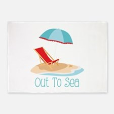 Out To Sea 5'x7'Area Rug
