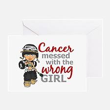 Combat Girl Skin Cancer Greeting Card