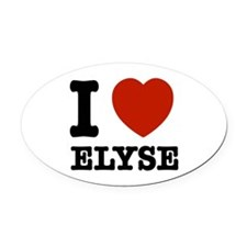 I love Elyse Oval Car Magnet