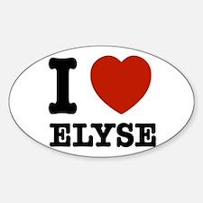 I love Elyse Sticker (Oval)