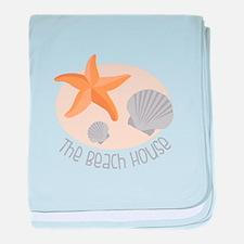 The Beach House baby blanket