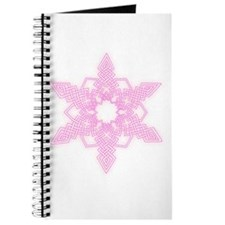 Pink Glow Snowflake Journal