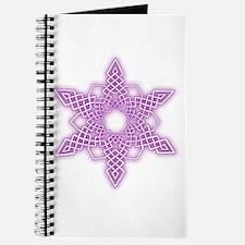 Purple Glow Snowflake Journal