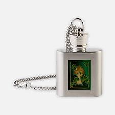 Happy St. Patricks Day to you!-dark Flask Necklace
