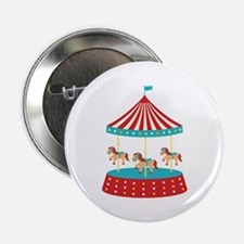 "Circus Horse Carousel Ride 2.25"" Button"