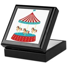 Circus Horse Carousel Ride Keepsake Box