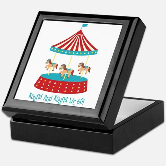 Round And Round We Go! Keepsake Box