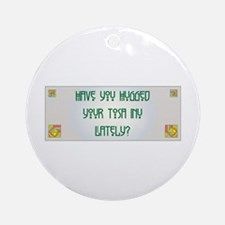 Hugged Tosa Ornament (Round)
