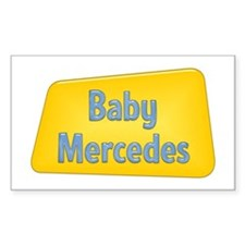 Baby Mercedes Rectangle Decal