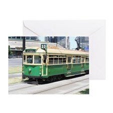 Melbourne Australia Tram Greeting Card
