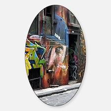 Melbourne Street Art Graffiti AWOL  Sticker (Oval)