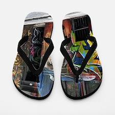 Melbourne Street Art Graffiti AWOL Smok Flip Flops