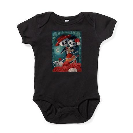 Dia de Los Muertos Mexican Lovers Baby Bodysuit