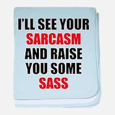 Sarcasm vs. Sass baby blanket