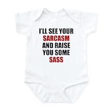 Sarcasm vs. Sass Infant Bodysuit