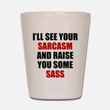 Sarcasm vs. Sass Shot Glass