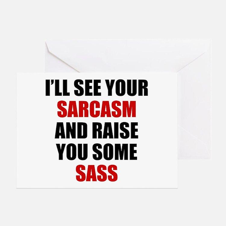 Sarcasm vs. Sass Greeting Card