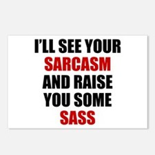 Sarcasm vs. Sass Postcards (Package of 8)