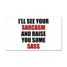 Sarcasm vs. Sass Rectangle Car Magnet