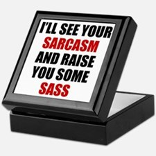 Sarcasm vs. Sass Keepsake Box