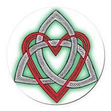 Heart of God Round Car Magnet